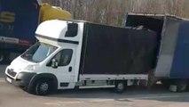 Un routier français pousse un coup de gueule contre les camions polonais