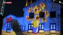 Ebru sanatını videoyla birleştirerek dünyaya tanıtıyor