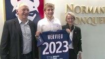 Loup Hervieu prolonge au SMCaen jusqu'en 2023