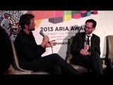 ARIA Award Winner: Shane Nicholson talks to Robbie Buck and media backstage.