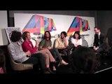 ARIA Winners Tame Impala talk with Robbie Buck and media backstage.