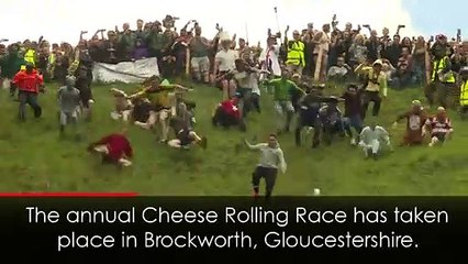 Local man wins Gloucestershire Cheese Rolling Race