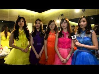 Taiwanese girl group Popu Lady talk S.H.E backstage at the Golden Melody Awards