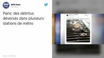 Paris. Des stations de métro couvertes de détritus ce mardi matin