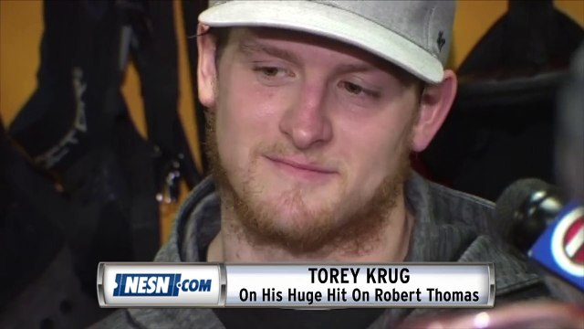 Torey Krug On His Hit On Robert Thomas In Game 1 Of Stanley Cup Final