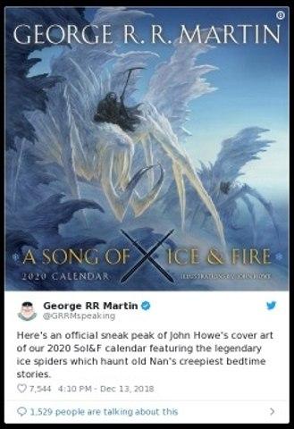 """La couverture du calendrier de """"Game of Thrones"""" 2020 dévoilée"""