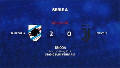 Match report between Sampdoria and Juventus Round 38 Serie A
