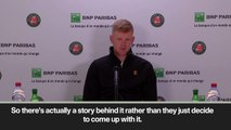 (Subtitled) Kyle Edmund not impressed by Nike outfit for French Open