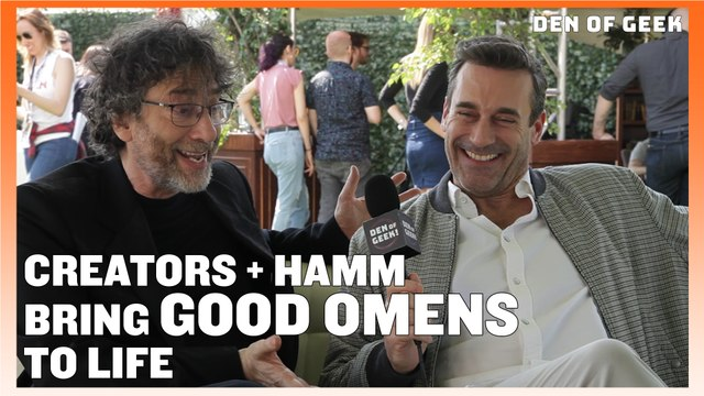 Good Omens (2019) - Gaiman, Hamm, and MacKinnon Interview
