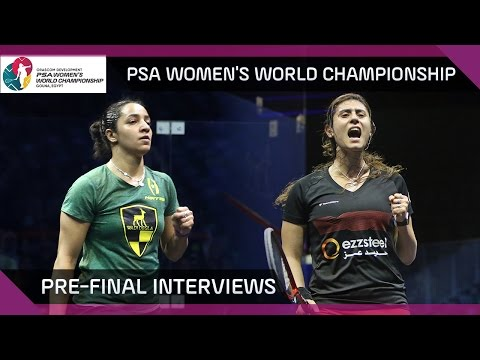 Squash: Pre-Finals Interviews – PSA Women's World Championship