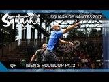 Squash: Men's QF Roundup Pt.2 - Open International de Squash de Nantes 2017