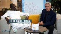 Interview du PDG de SEMER Holding SA Diene Marcel Diagne au Festival de Cannes au micro de Yves Segura