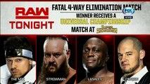 WWE Raw: The Miz vs. Braun Strowman vs. Bobby Lashley vs. Baron Corbin | Español Latino HD