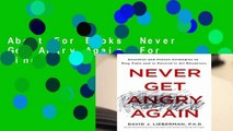 About For Books  Never Get Angry Again  For Kindle