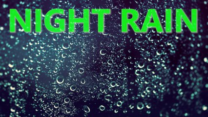 Night Rain Sound with Distant Thunder   10 HOURS - 4K, Sleep, Insomnia, Meditation, Relaxing, Study