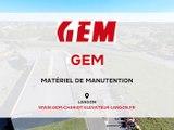 GEM, matériel de manutention à Langon.ns titre