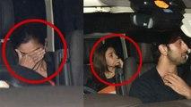 Alia Bhatt & Ranbir Kapoor spotted together, Alia hides her face; Watch video | FilmiBeat