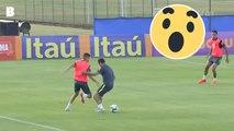 Neymar se prend un énorme petit pont par un joueur de 19 ans