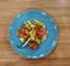 Salade de kalawang, avocat et crevettes