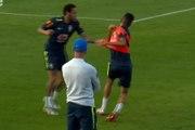 Neymar s'en prend à un coéquipier qui lui avait mis un petit pont