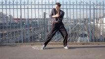 Le danseur étoile de l'Opéra de Paris Germain Louvet  improvise dans les rues de Paris avec la nouvelle Puma Cell Alien OG