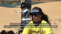 """""""Je m'entraînais sur les dunes de sable"""" : Binh, le snowboarder vietnamien sans neige"""