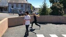 Adeptes du parkour au parking Saint-Pierre