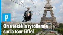 On a sauté de la tour Eiffel en tyrolienne
