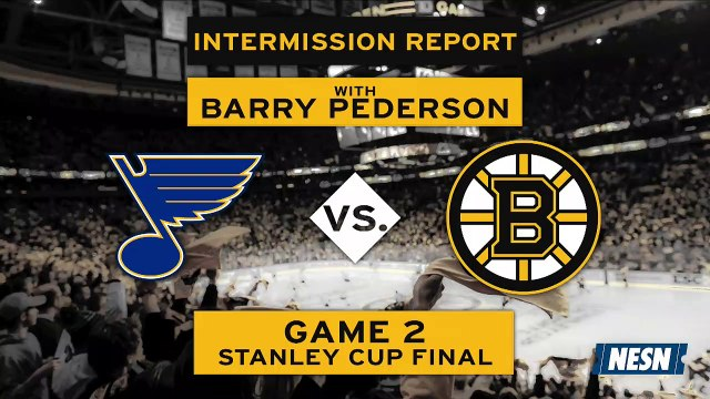 Bruins vs. Blues Game 2 Stanley Cup Final 2nd Intermission Report