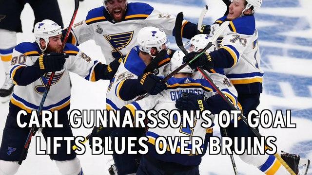 Carl Gunnarsson's OT Goal Lifts Blues Over Bruins In SCF Game 2