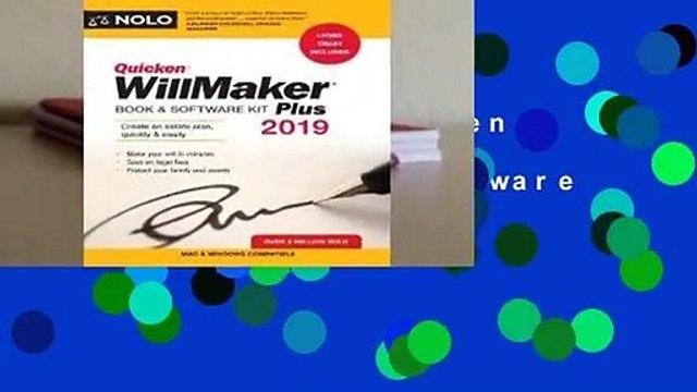 Full E-book  Quicken Willmaker Plus 2019 Edition: Book & Software Kit Complete