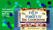 """Full version  Fix-It and Forget-It Big Cookbook: 1400 Best Slow Cooker Recipes! Plus """"Special"""
