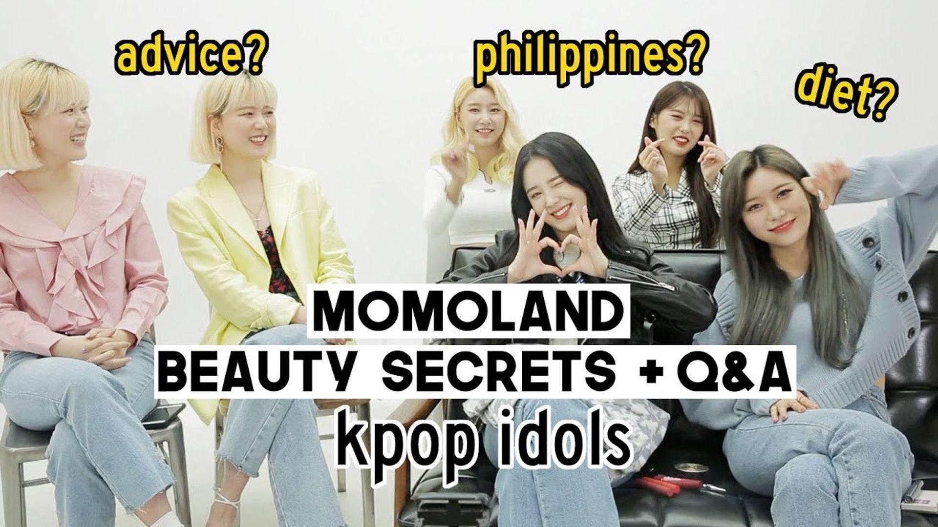 Kpop Idol MOMOLAND beauty secrets + q&a (trainee advice, diet etc) Q2HAN