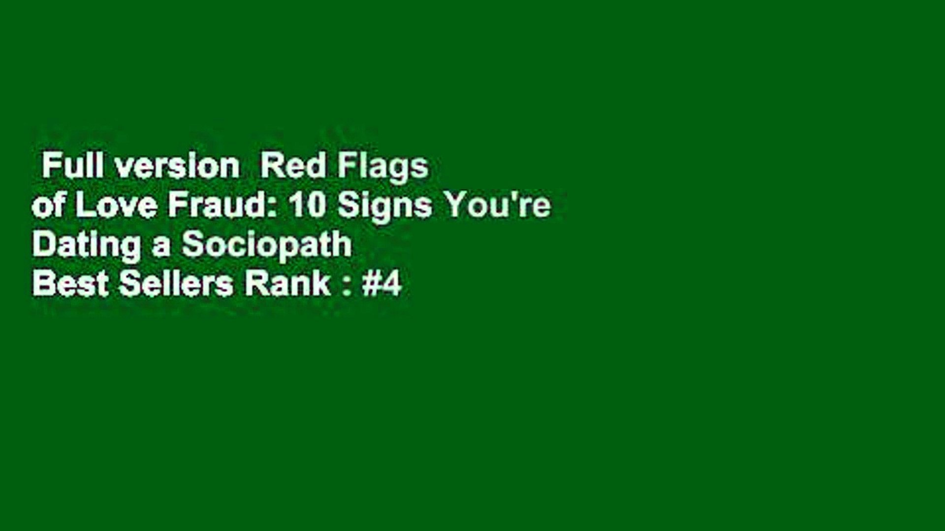 Dating signs a sociopath youre 11 Signs