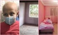 Kanser hastası küçük kızın 'pembe oda' mutluluğu