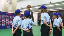 Duke of Sussex attends Cricket World Cup opening with school children