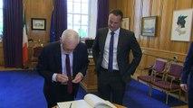 Jeremy Corbyn meets Taoiseach Leo Varadkar in Dublin