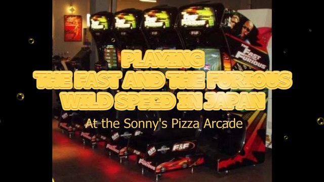 Playing the Fast and the Furious at Sonny's Pizza Arcade