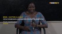 Bénin – élection à la HAAC : Cécile Sègbégnon AHOUMENOU dévoile ses ambitions pour l'institution