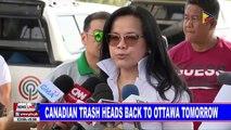 Canadian trash heads back to Ottawa tomorrow