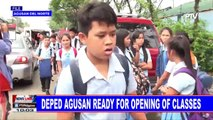 DepEd Agusan ready for opening of classes