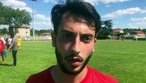 Coupe du Rhône (1/2 finale) – Lucas FONTANA réagit après la qualification du FC LYON contre le FC FC VAL LYONNAIS