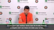 Roland-Garros - Djokovic : ''Les Grands Chelems vous font entrer dans les livres d'histoire de ce sport''