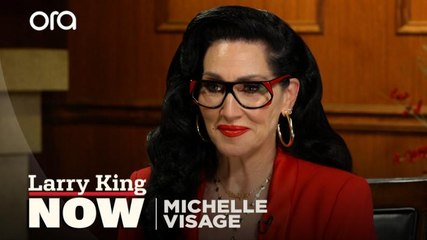 Michelle Visage gives Larry King his drag queen name