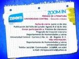 ZOOM IN - Premio de literatura Universidad Central