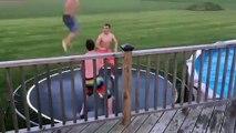 Saut dans.. le bord de la piscine !