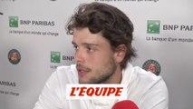 Barrere «J'ai hâte de revenir» - Tennis - ATP - Roland-Garros