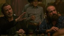 Morgan Freeman and Blerim Destani Play a Tense Game of Poker in 'The Poison Rose'