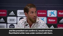 (Subtitled) Sergio Ramos wants to 'retire' at Real Madrid