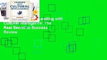 About For Books  Leading with Cultural Intelligence: The Real Secret to Success  Review